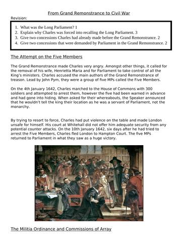English Civil War Lesson Three: Declarations of War 1640 - 1642
