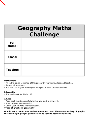 Maths in Geography