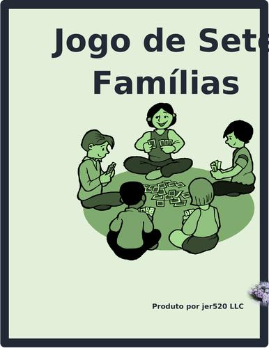 Escola (School in Portuguese) Jogo de sete famílias