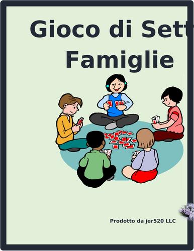 Scuola (School in Italian) Gioco di sette famiglie