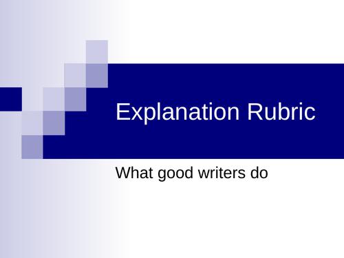 Explanation Rubric