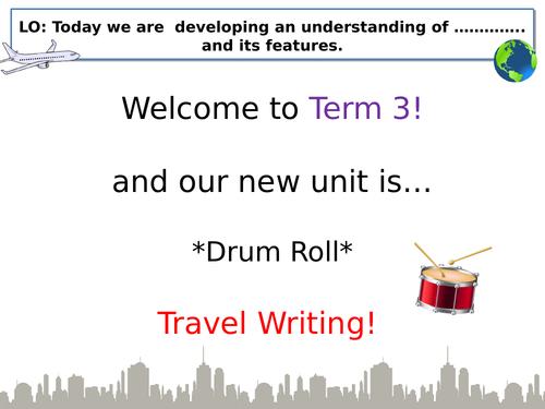 Year 7 - Travel Writing Scheme of Work