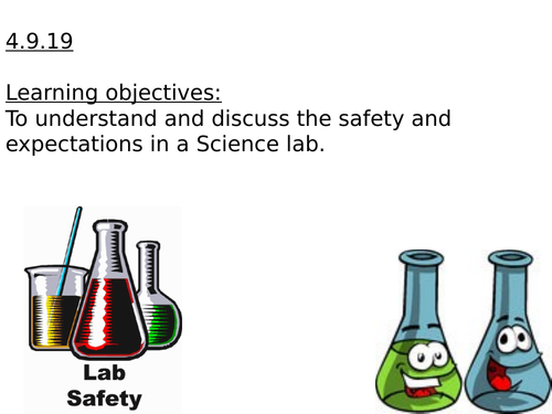 Science lab, safety rules lesson