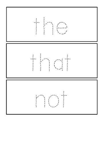 First 100 high frequency words - handwriting