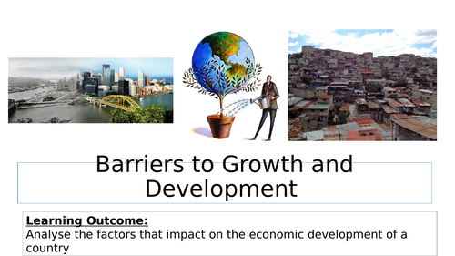 Barriers to growth and development