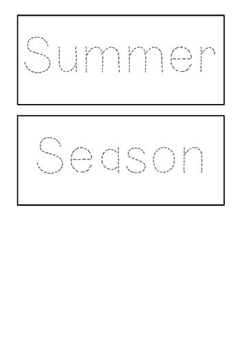 Seasons - Handwriting practice