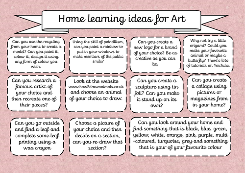 Home Learning Resource - Art
