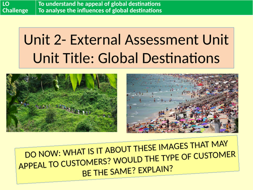BTEC Level 3 Travel and Tourism Unit 2