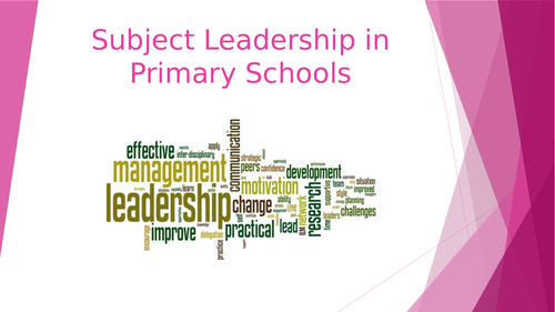 Subject Leadership Home Learning Course