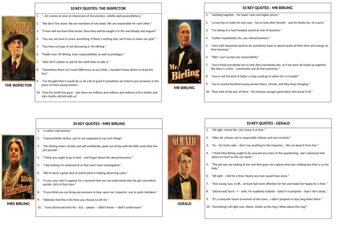 An Inspector Calls- Key Quotes