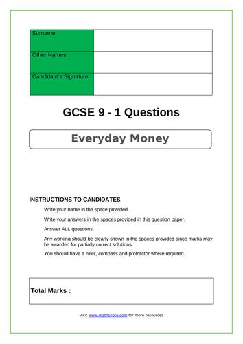 Everyday Money for GCSE