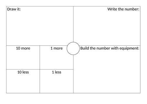Blank build it, draw it, write it grid