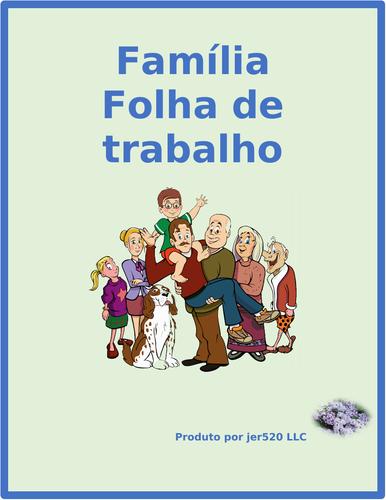 Família (Family in Portuguese) Worksheet