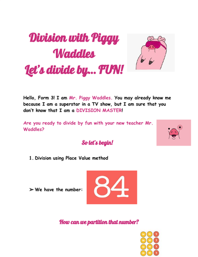 Learn Division with Piggy Waddles