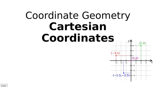 Intro to Cartesian coordinates - drawing axes