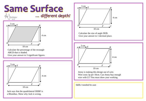 Same surface... different depth!