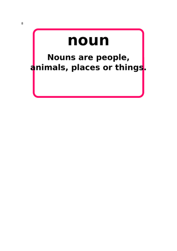 Type of Word Display Cards