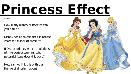 EQUALITY AND DIVERSITY - DISNEY PRINCESS LESSON