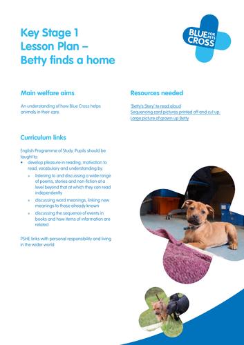 Blue Cross Pet resources - Key stage 1 Lesson plan