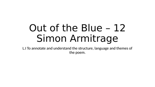 CCEA GCSE Poetry Out of the Blue - 12