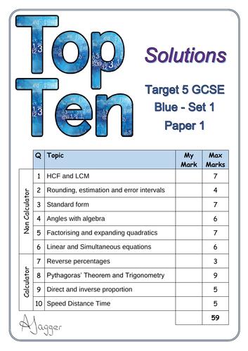 Top ten tests - Target 5