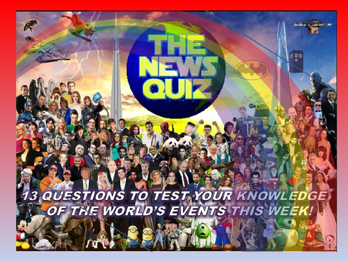 The News Quiz 20th - 27th April 2020 Form Tutor Time Current Affairs