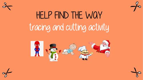 Help find the way - tracing and cutting activity