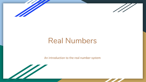 The real number system (basic) - examples and solutions