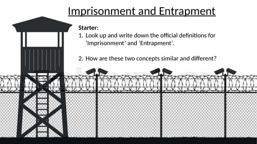 NONFICTION THEME Imprisonment and Entrapment NON CURRICULUM /EXAM BOARD SPECIFIC