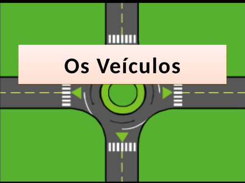 Veículos (Vehicles in Portuguese) PowerPoint Distance Learning