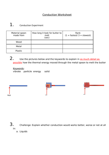 Conduction - Remote/Home Learning Lesson