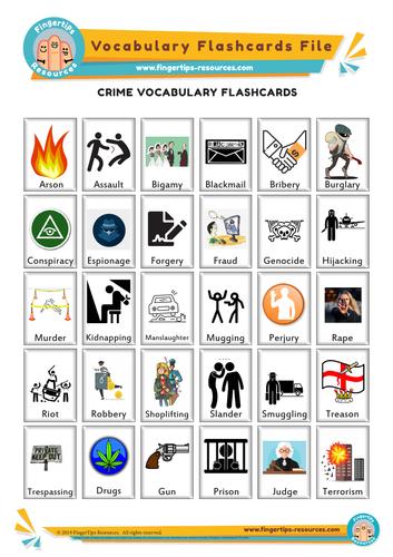 Crime Vocabulary Flashcards