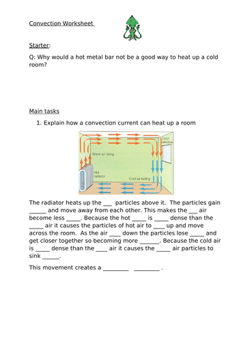 Convection - Remote/Home Learning Lesson