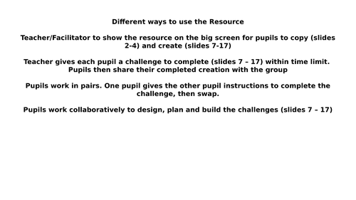 Lego Therapy Club Lego Challenges