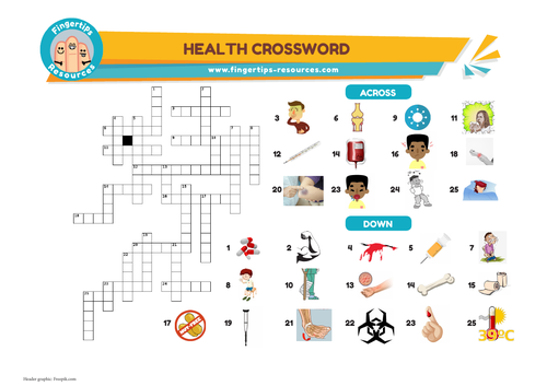 Health & Illness Vocabulary Crossword