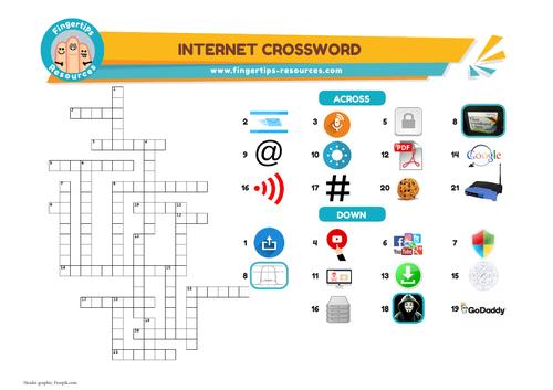 Internet & Social Media Vocab Crossword