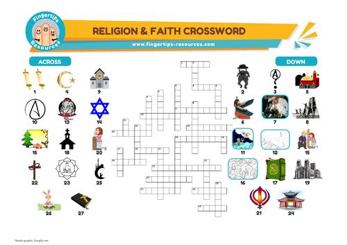 Religion & Faith Vocabulary Crossword