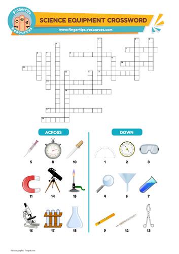 Science Equipment Vocabulary Crossword