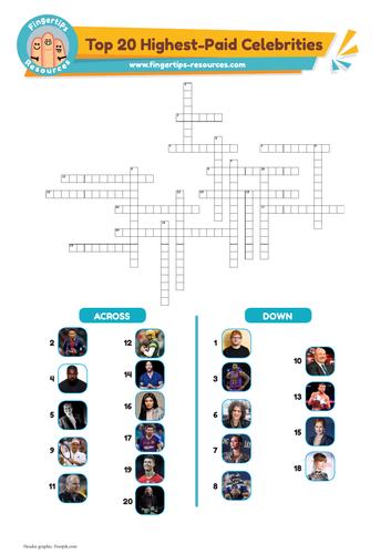 Top 20 Highest-Paid Celebrities Crossword