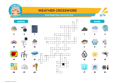 Weather & Climate Vocabulary Crossword
