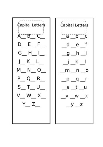 English Upper and Lower Case-Slip
