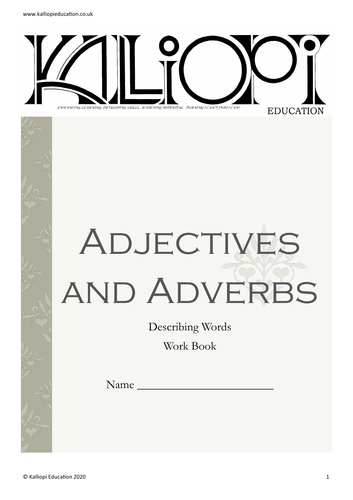 Adjectives and Adverbs Workbook