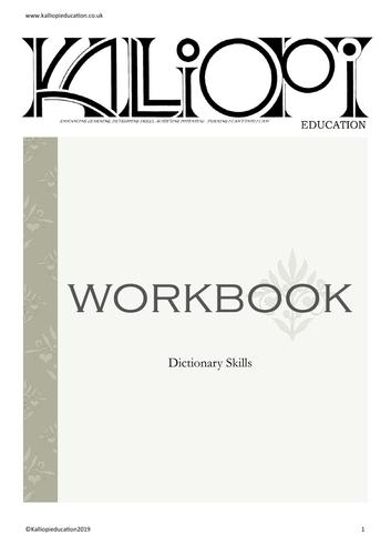 Dictionary Skills workbook