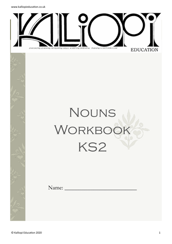 Nouns Workbook