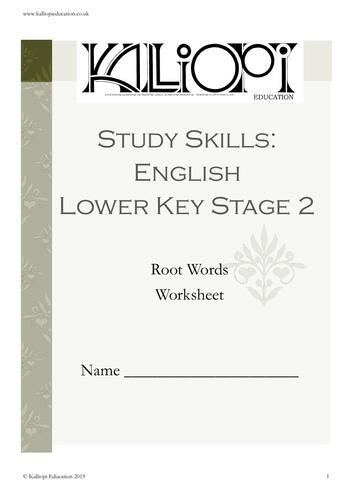 Root Words workbook