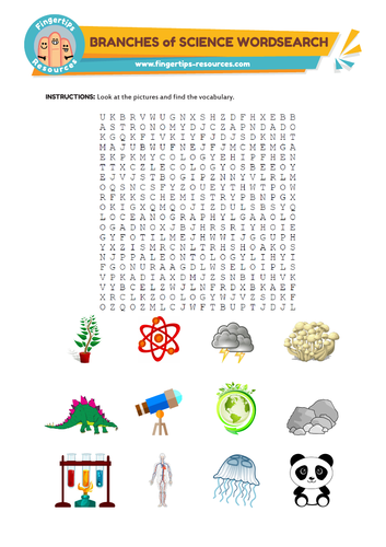 Branches of science Word Search
