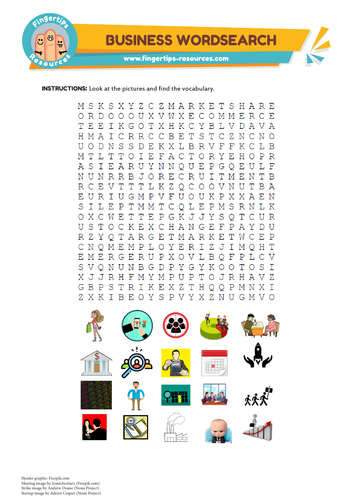 Business Vocabulary Word Search
