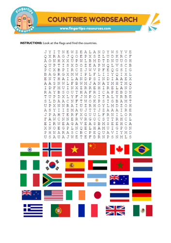 Countries & Flags Word Search