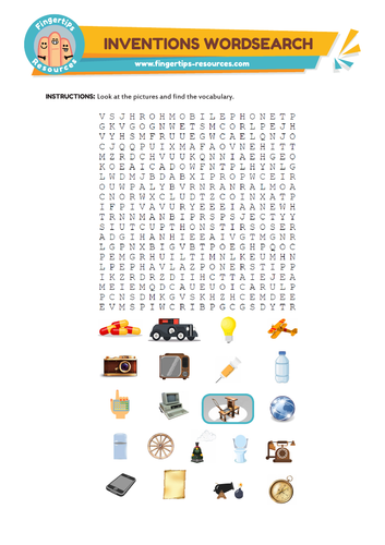 Great Inventions Word Search