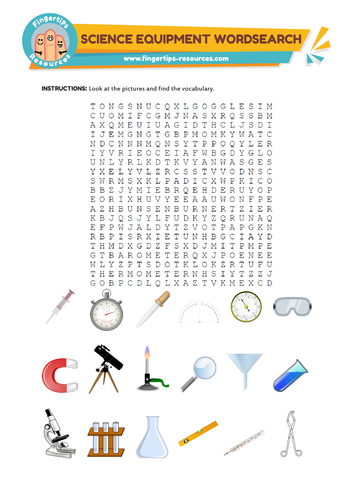 Science Equipment Word Search